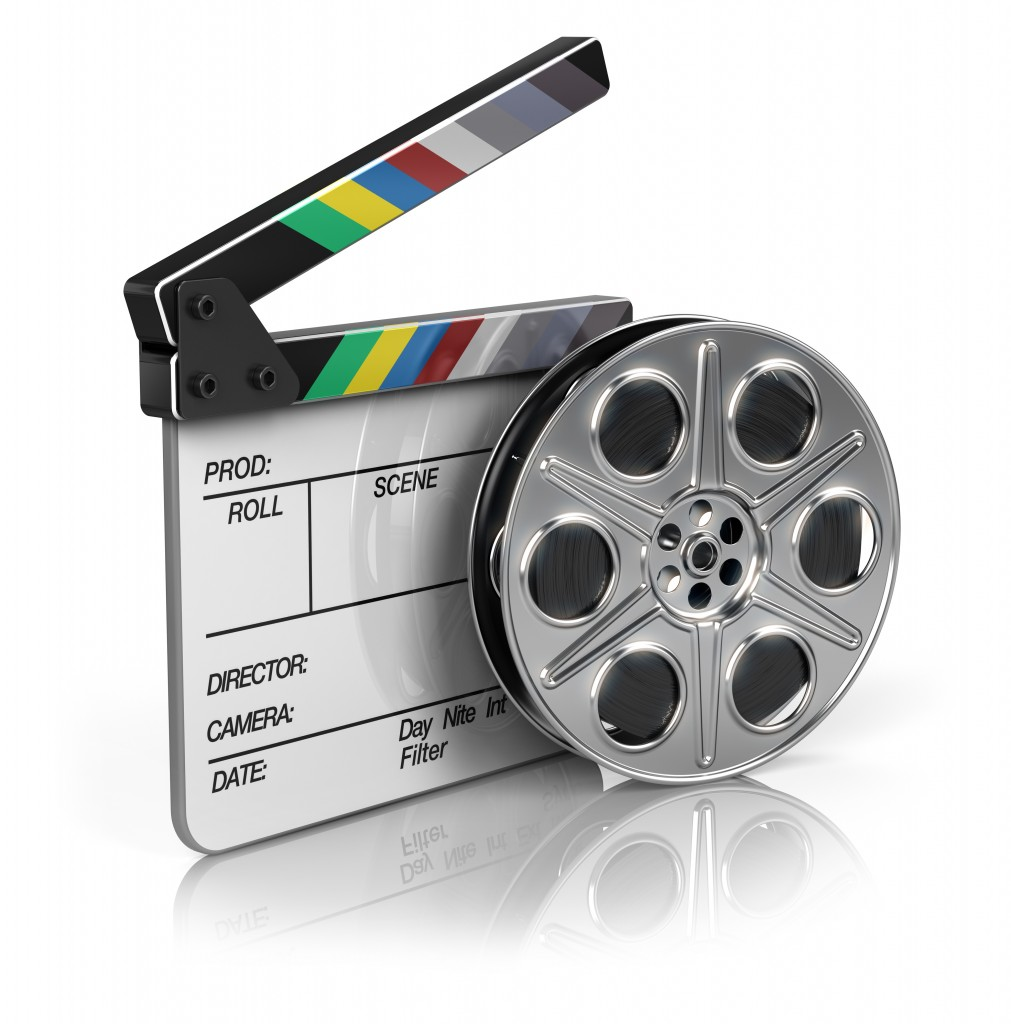 Film and Clapper board - video icon