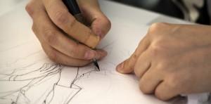 manga artist drawing