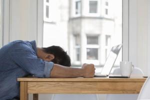 overworked man