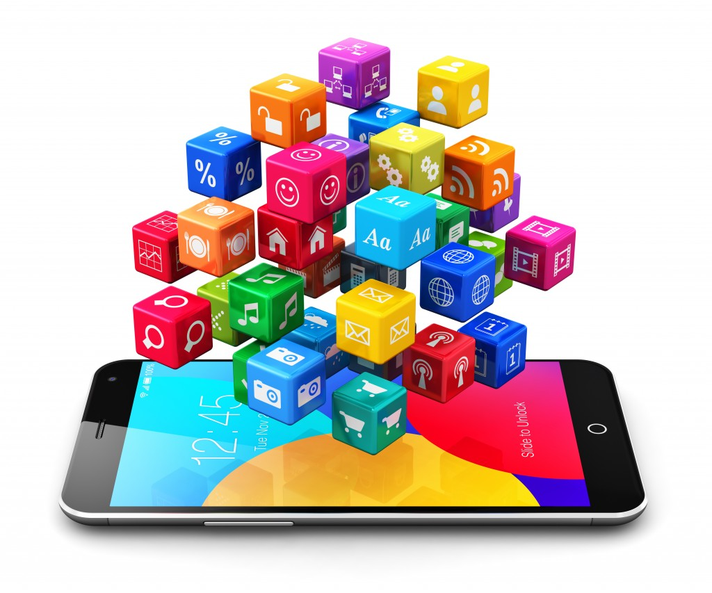 Mobile applications and internet concept