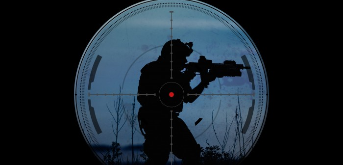 sniper during night operation hostage rescue.