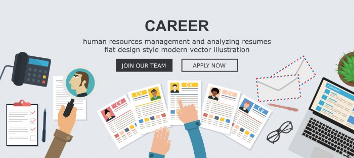 Career / human resources concept - Flat design